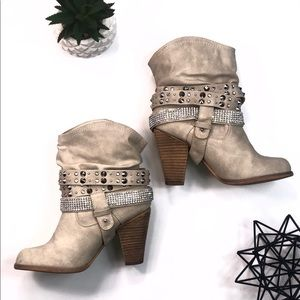 Not Rated Embellished Booties Size 6.5